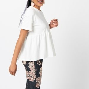 Frenchie Top White NWT large